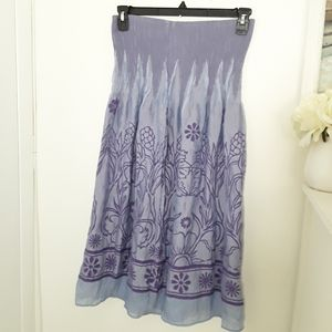 Anthropology Lapis Convertible Dress Skirt